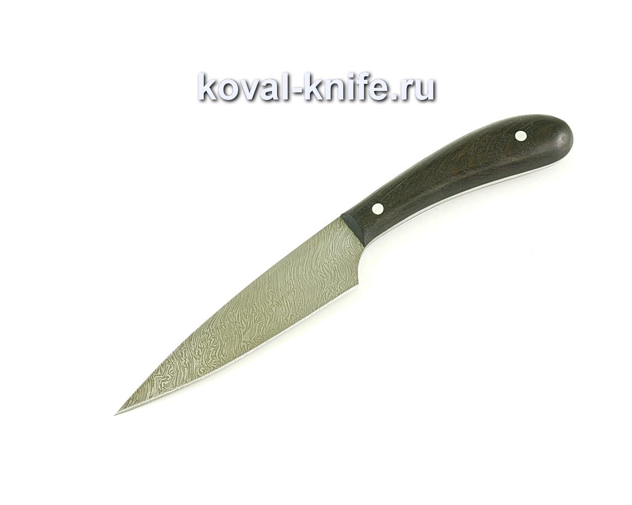 Кухонный малый нож (сталь дамасская), рукоять граб A064