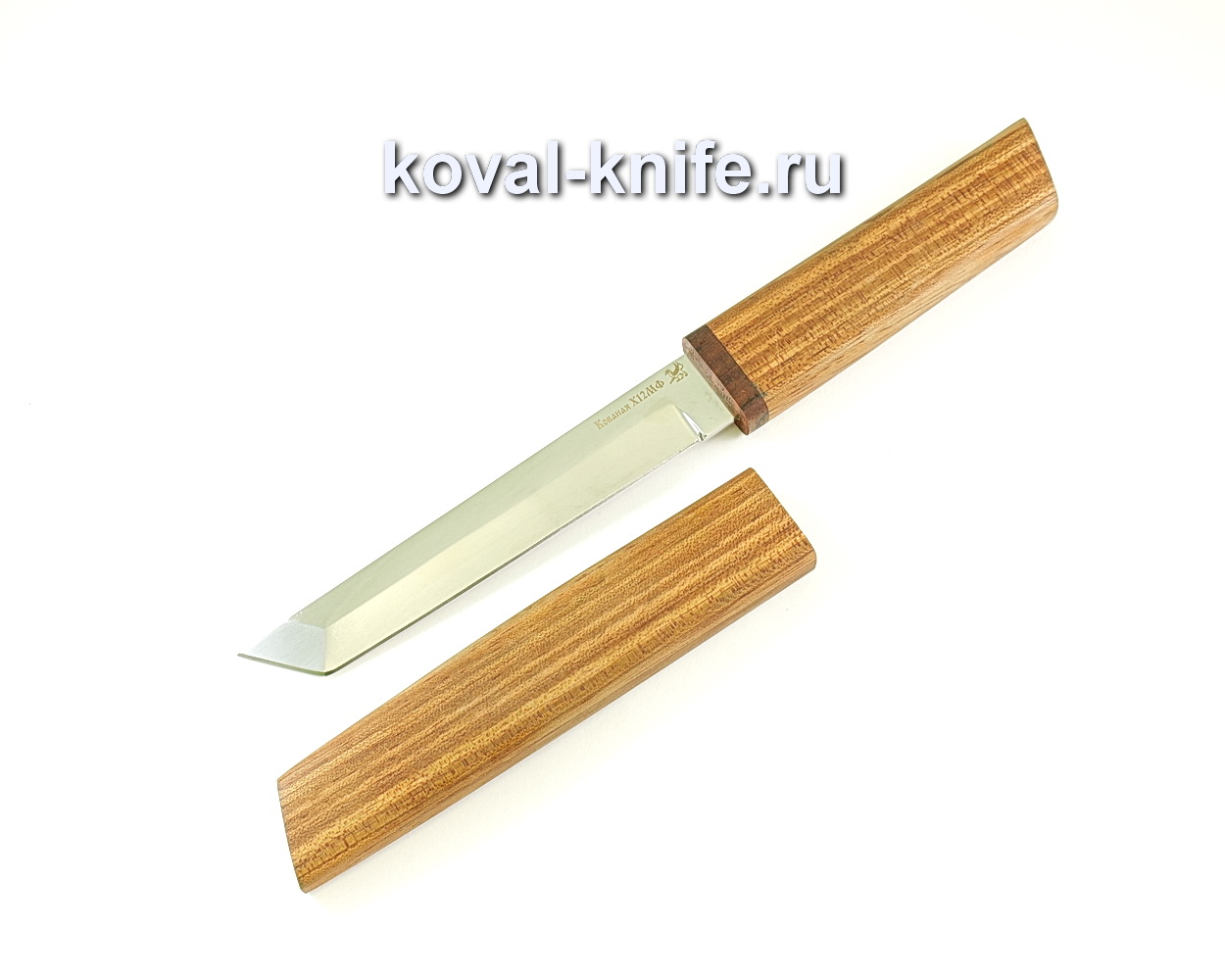 Нож Кобун (сталь х12мф), рукоять и ножны бубинга A079