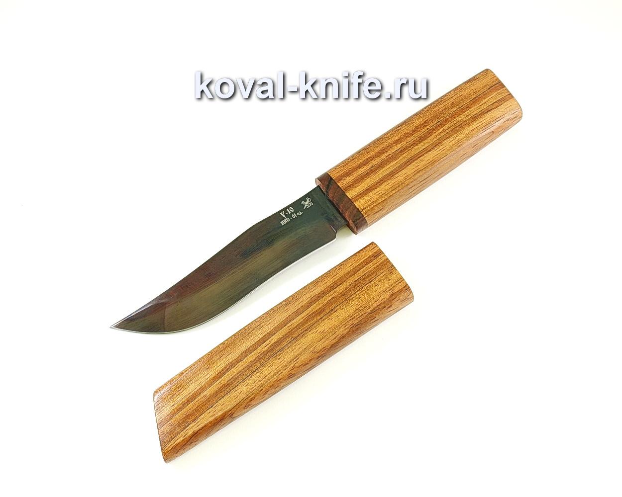 Нож Пират (сталь У10), рукоять и ножны бубинга A073