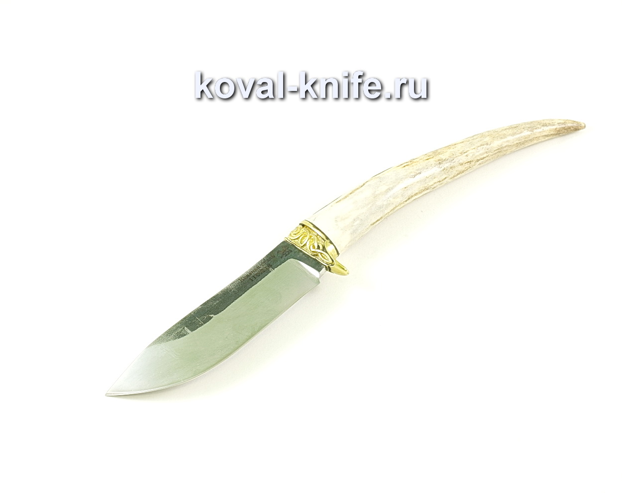 Нож Кабан (сталь 110х18), рукоять рог лося, литье A042