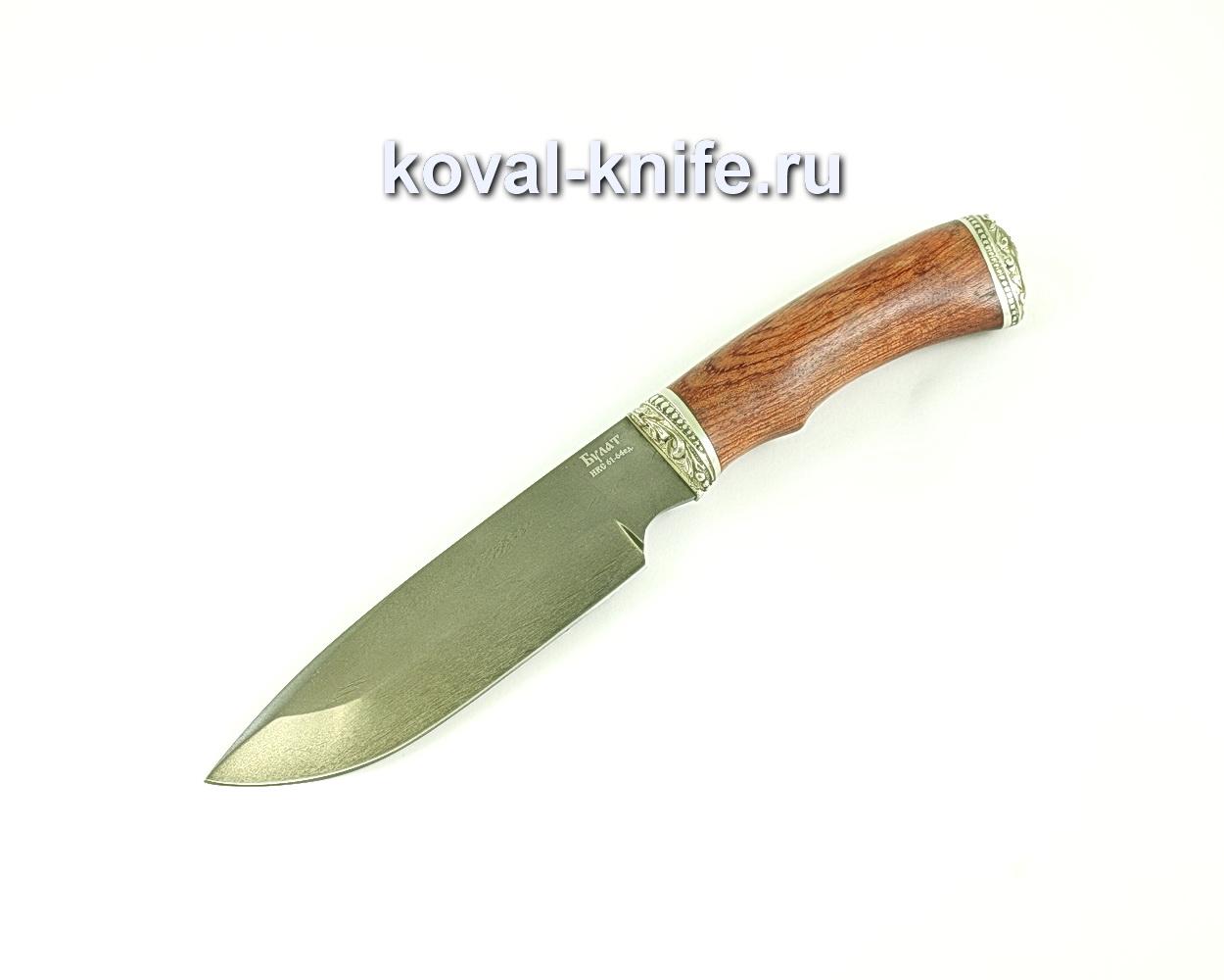 Нож Бигзод (сталь булат), рукоять бубинга, литье A089