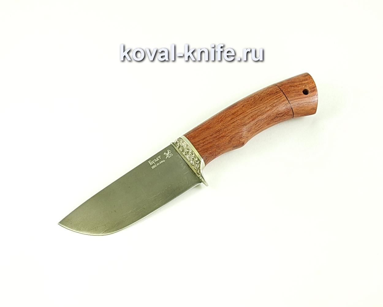 Нож Бобр (сталь Булат), рукоять бубинга, литье A092