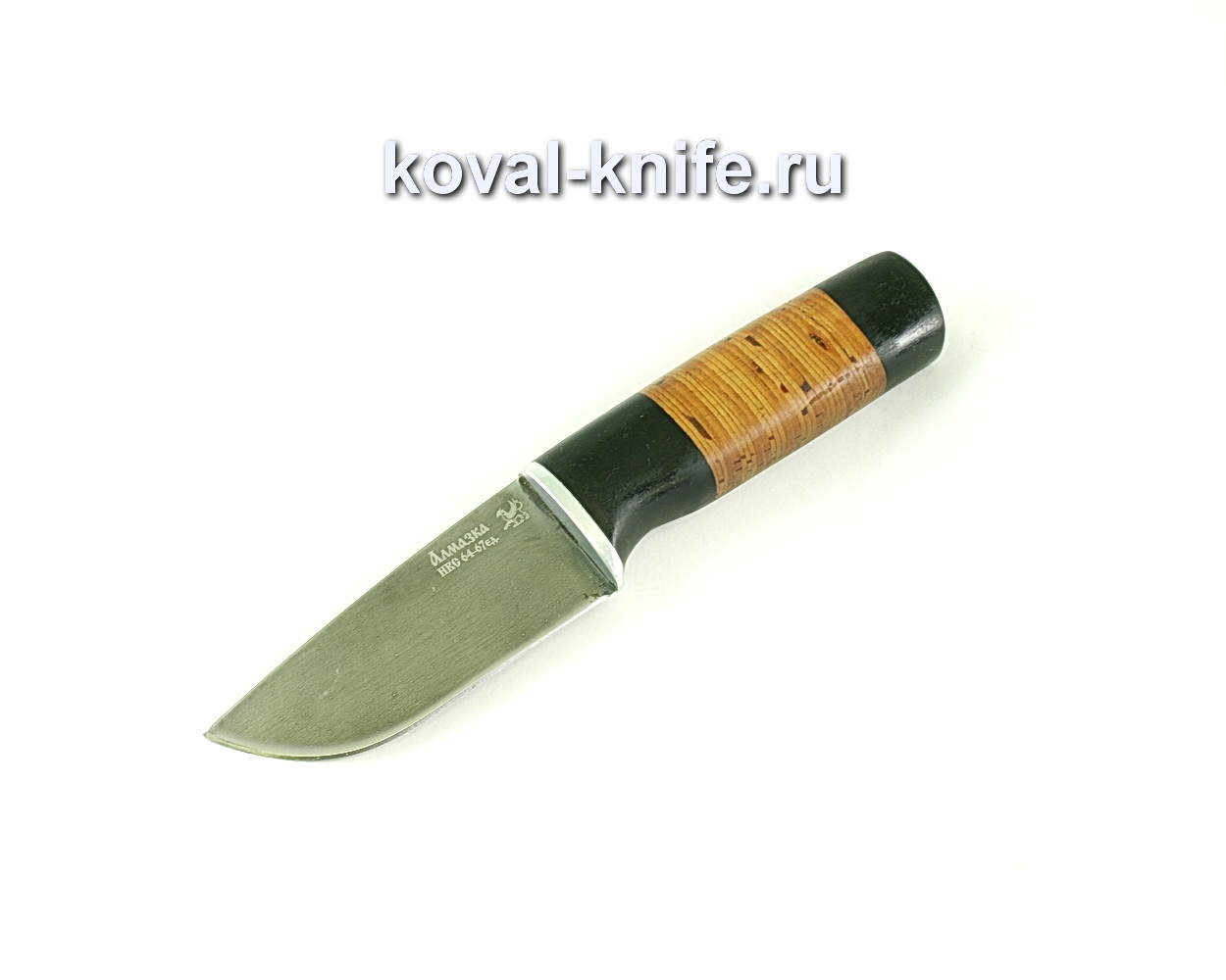Нож Бобр (сталь ХВ5-алмазка), рукоять граб, береста A099