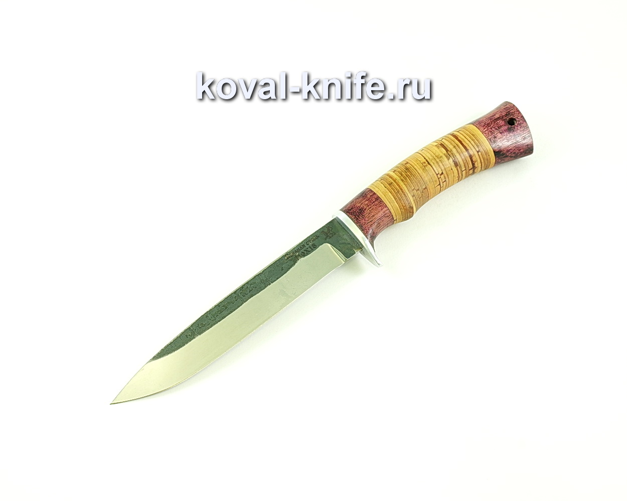 Нож Турист-3 (сталь 110х18), рукоять амарант, береста A150