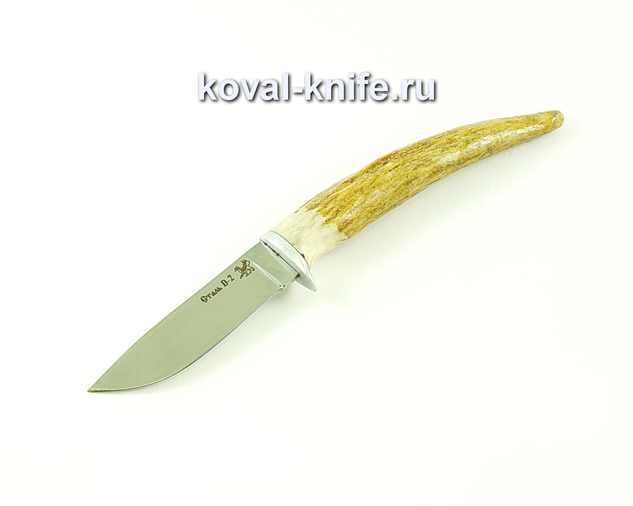 Нож Грибник (сталь D2), рукоять рог A124