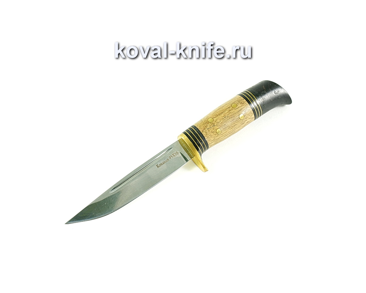 Нож Финка (сталь 95х18), рукоять граб, орех, литье A288