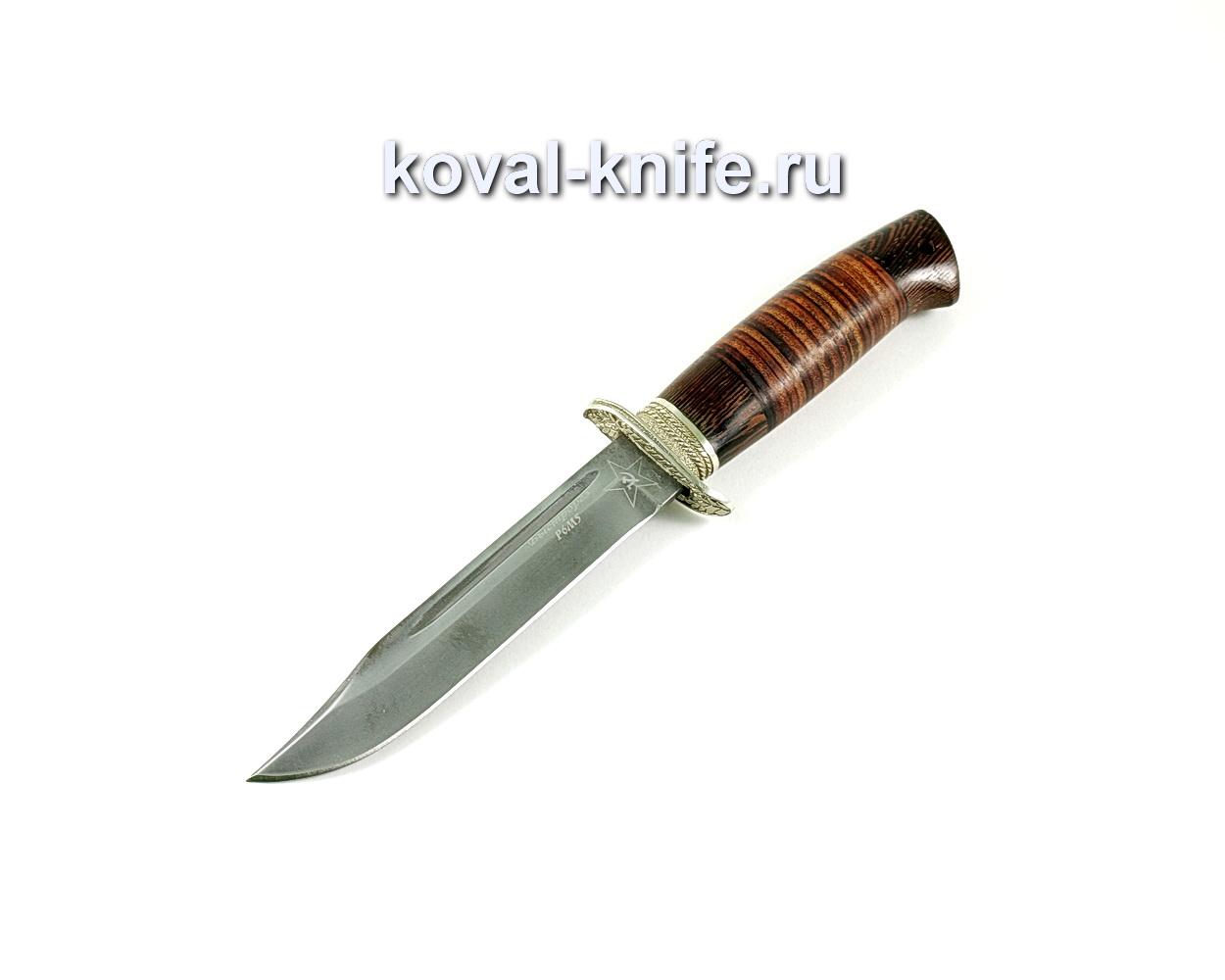 Нож Штрафбат (сталь Р6м5), рукоять венге, кожа A212