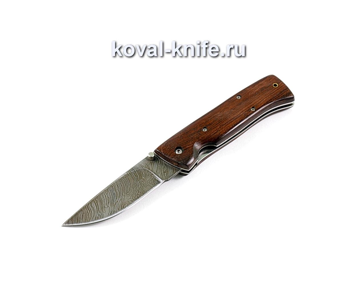 Нож Складной (сталь дамасская), рукоять орех A257