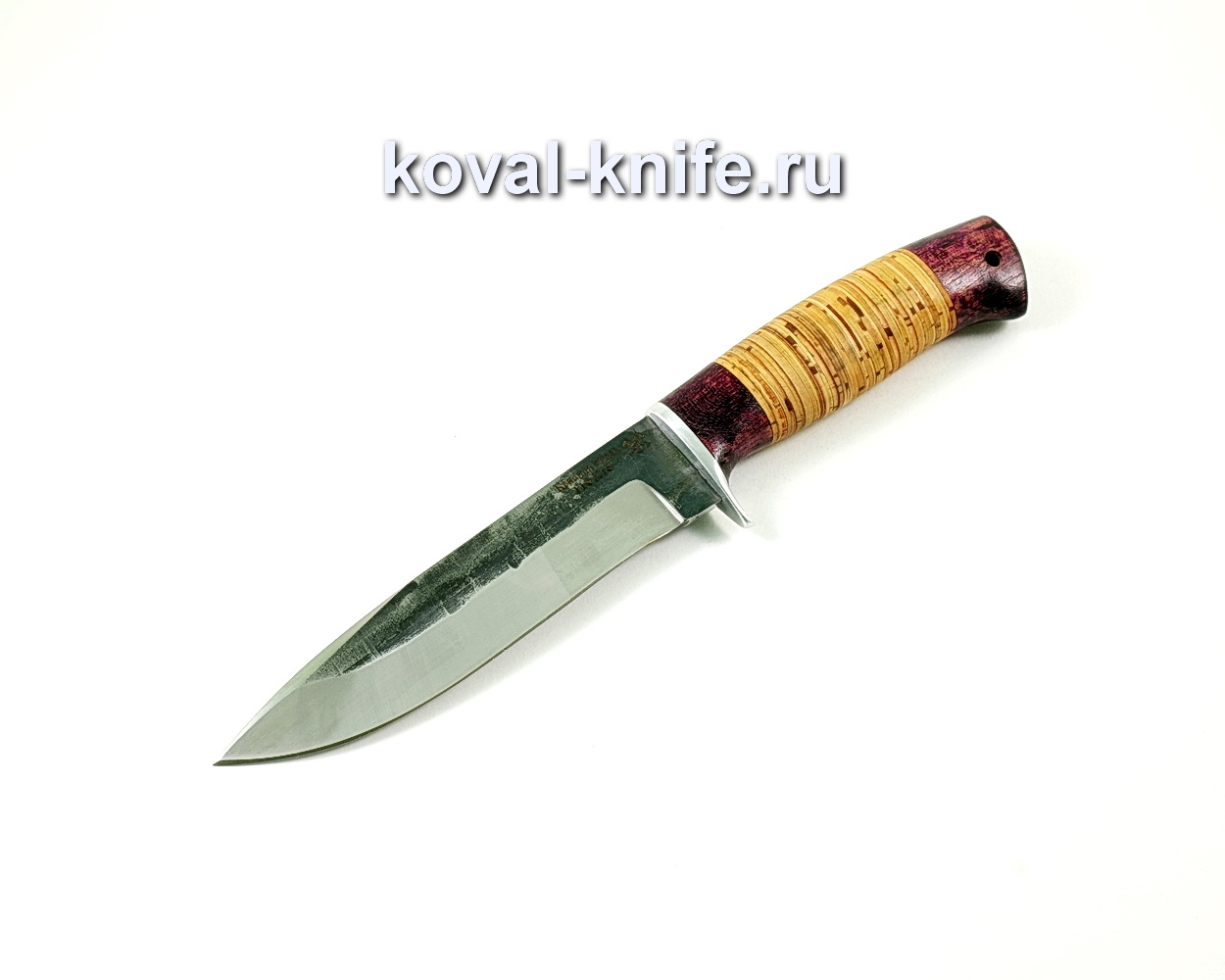 Нож олимп (сталь 110х18), рукоять береста, амарант A222