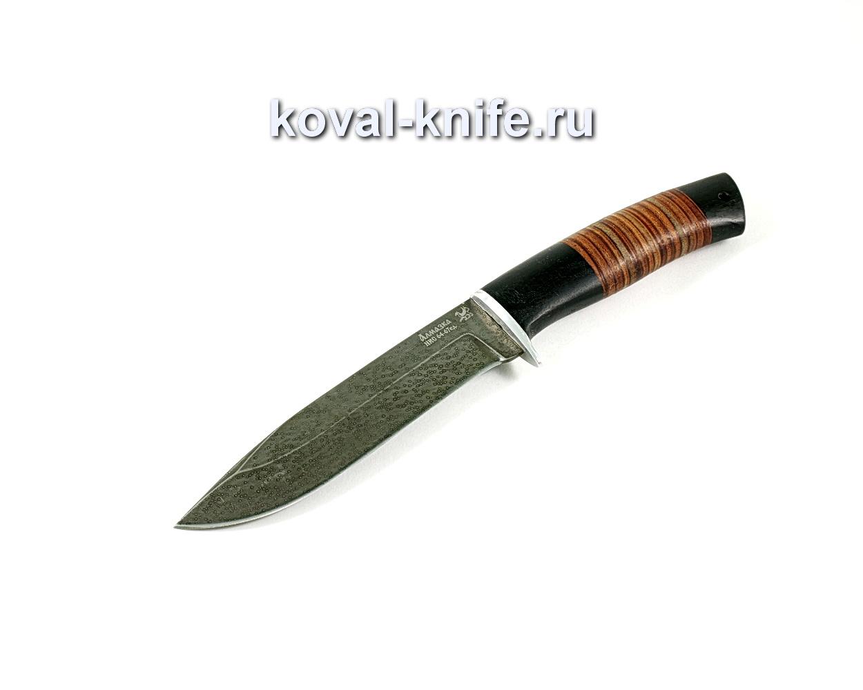 Нож Олимп (сталь ХВ5-Алмазка), рукоять граб, кожа A291