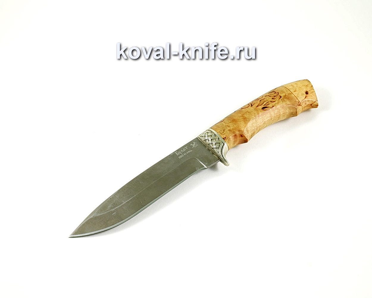 Нож Олимп (сталь Булат), рукоять карельская береза, литье A200