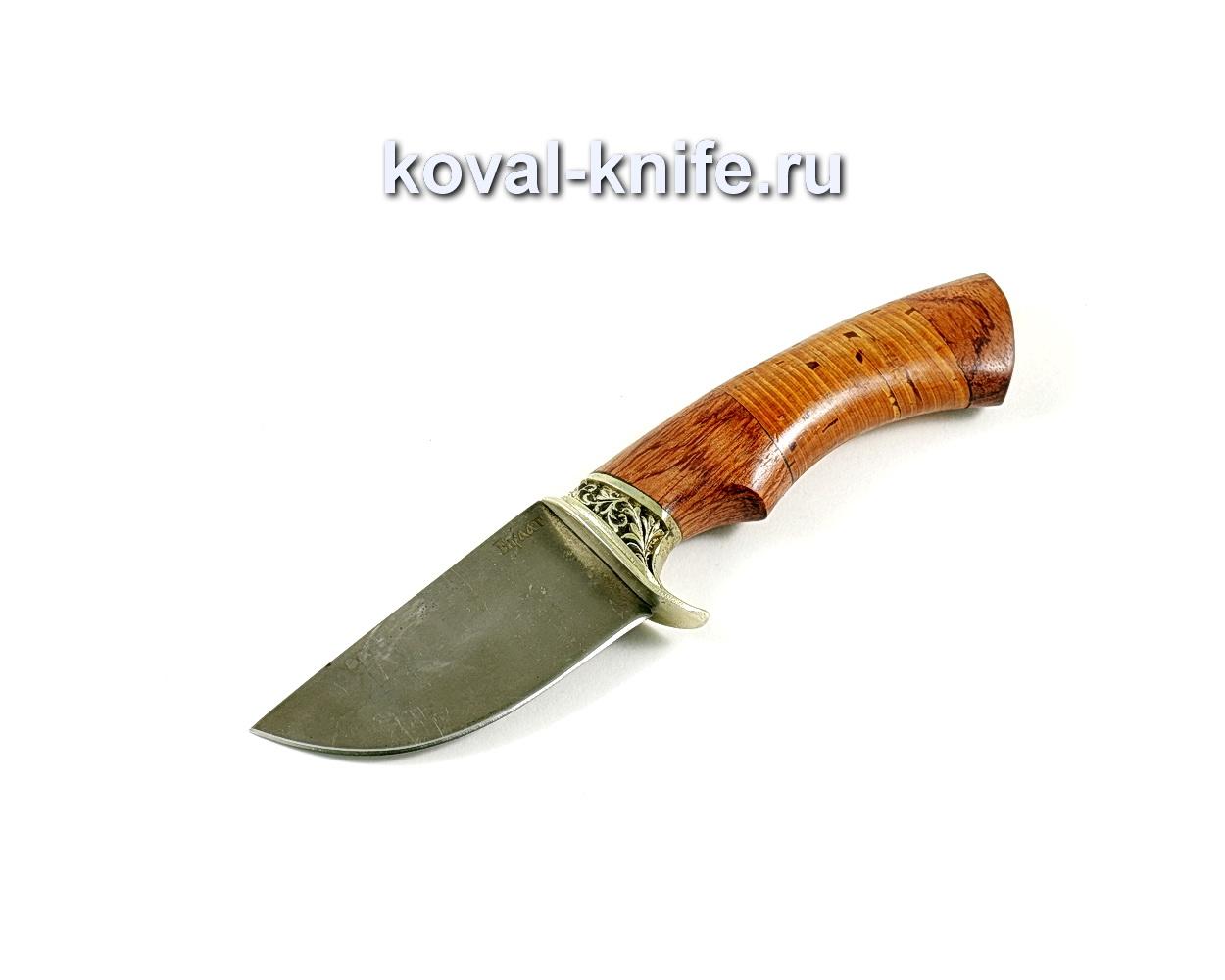 Нож Скин (сталь Булат), рукоять бубинго, береста, литье A202