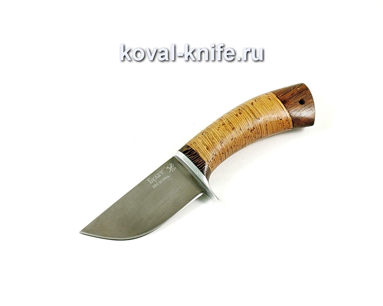 Нож Скин (сталь Булат), рукоять береста A215