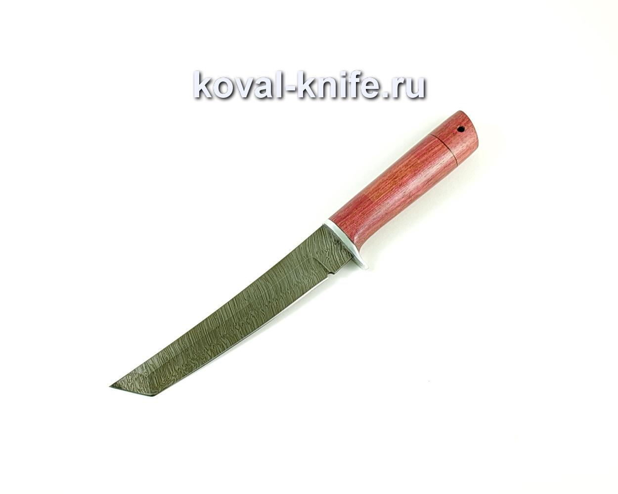 Нож Танто (сталь Дамасская), рукоять амарант A229