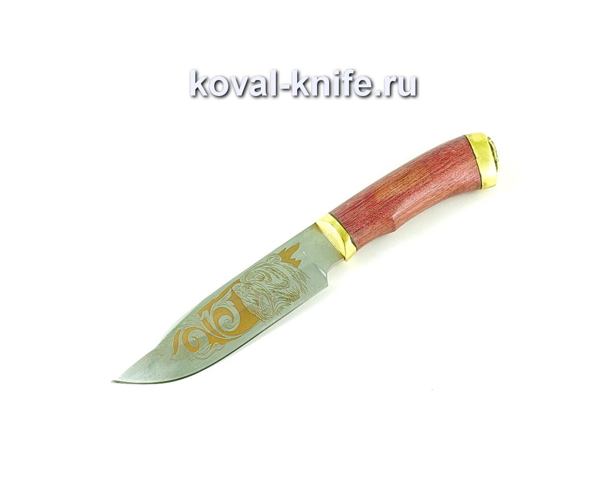 Нож Бигзод (сталь 65х13), рукоять амарант, литье A170
