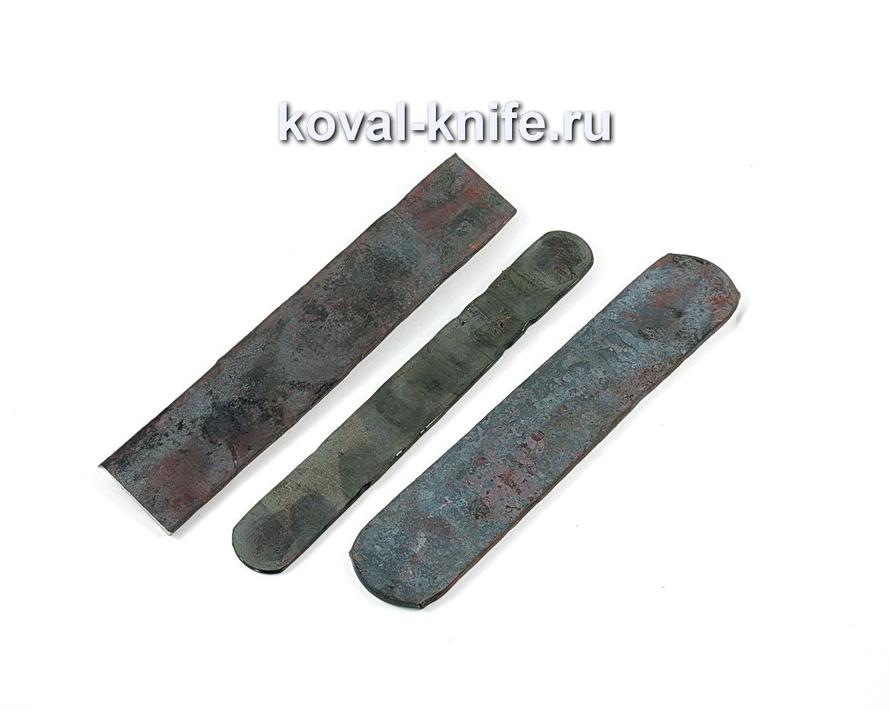 Кованая заготовка из алмазной стали ХВ5, 250-260х40х4мм.