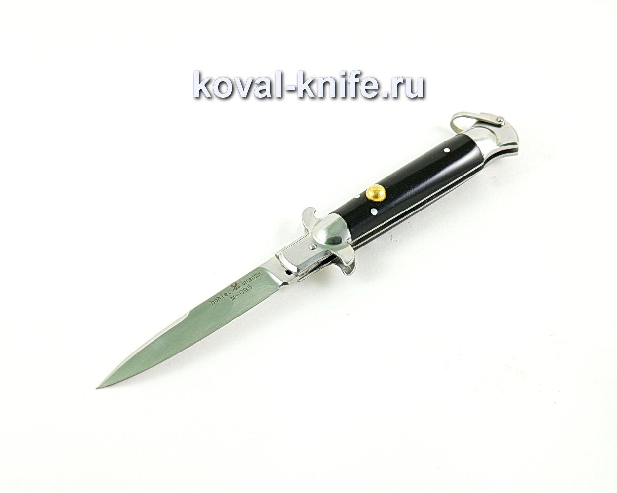 Нож Флинт (сталь N-695), рукоять эбонит A327