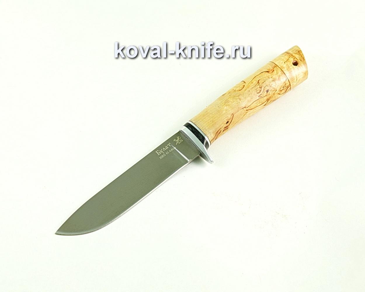 Нож Белка (сталь Булат), рукоять карельская береза A298
