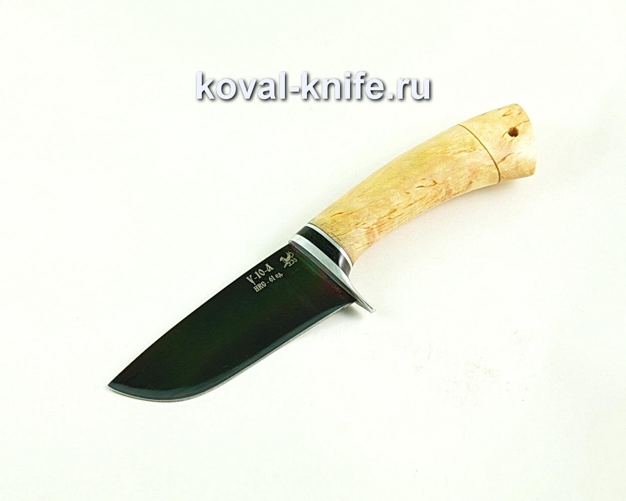 Нож Бобр (сталь У10), рукоять карельская береза A301
