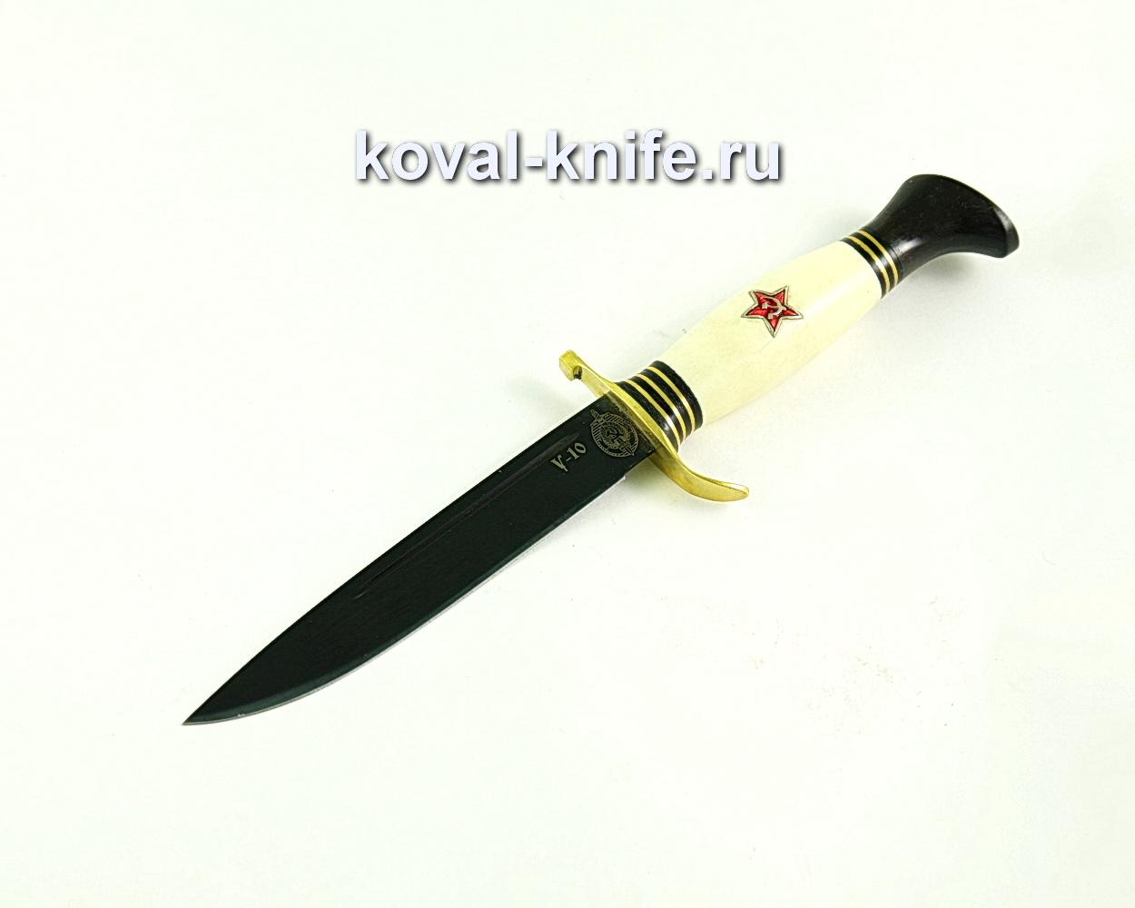 Нож Финка (сталь У10), рукоять пластик, эбонит, литье A343