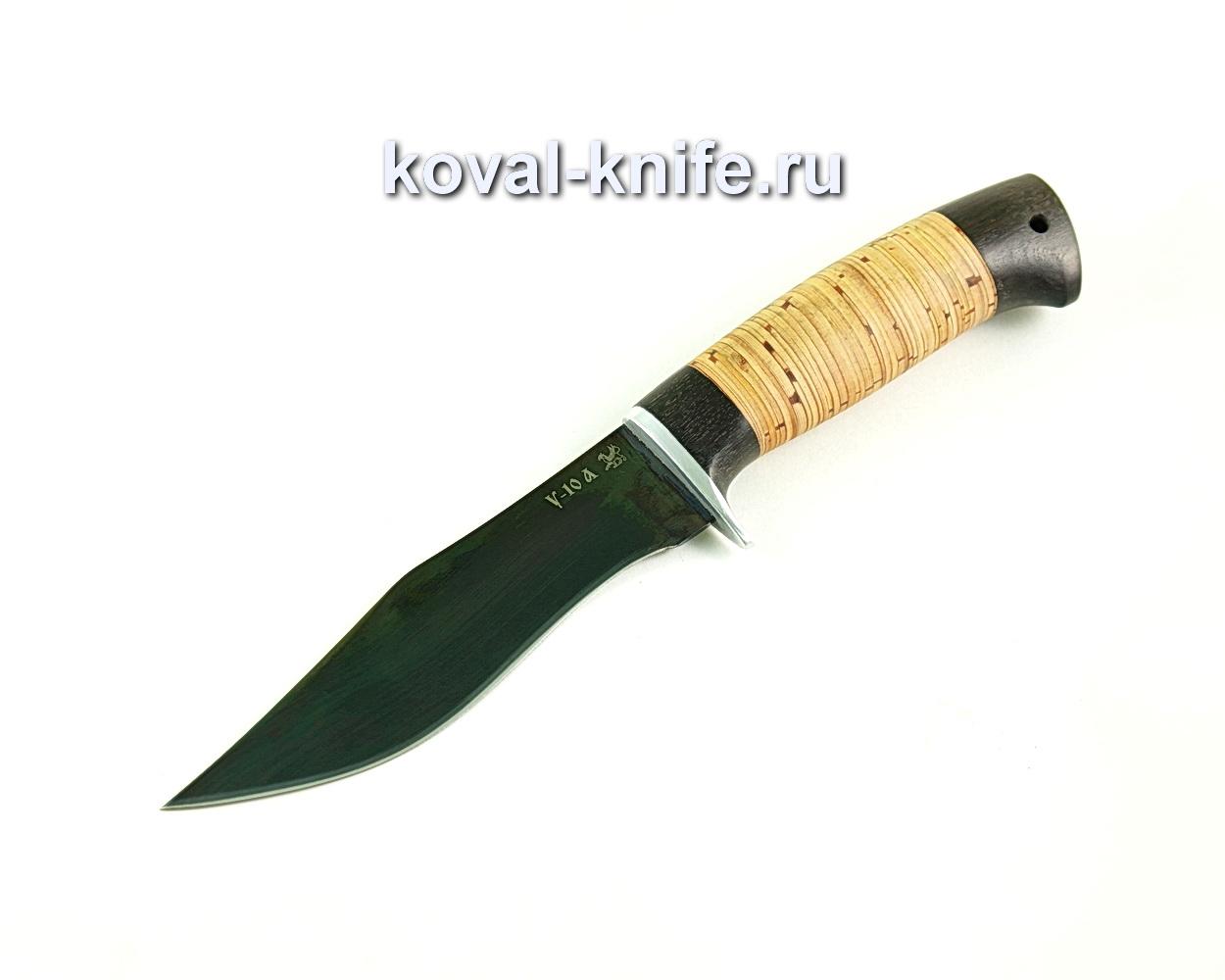 Нож охотничий (сталь У10), рукоять граб, береста A303