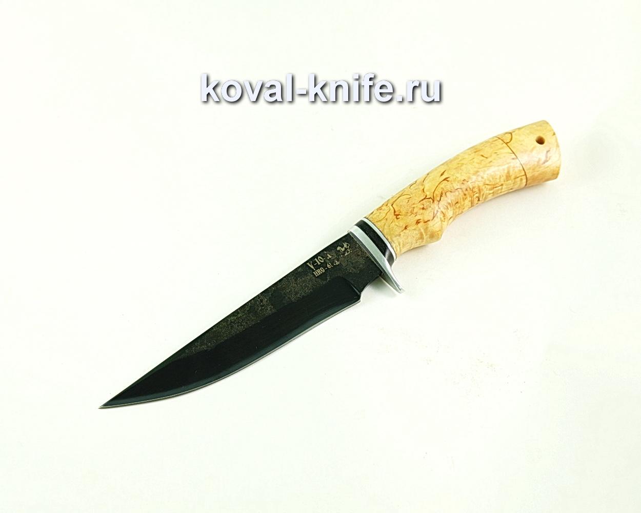 Нож Лис (сталь У10), рукоять карельская береза A311
