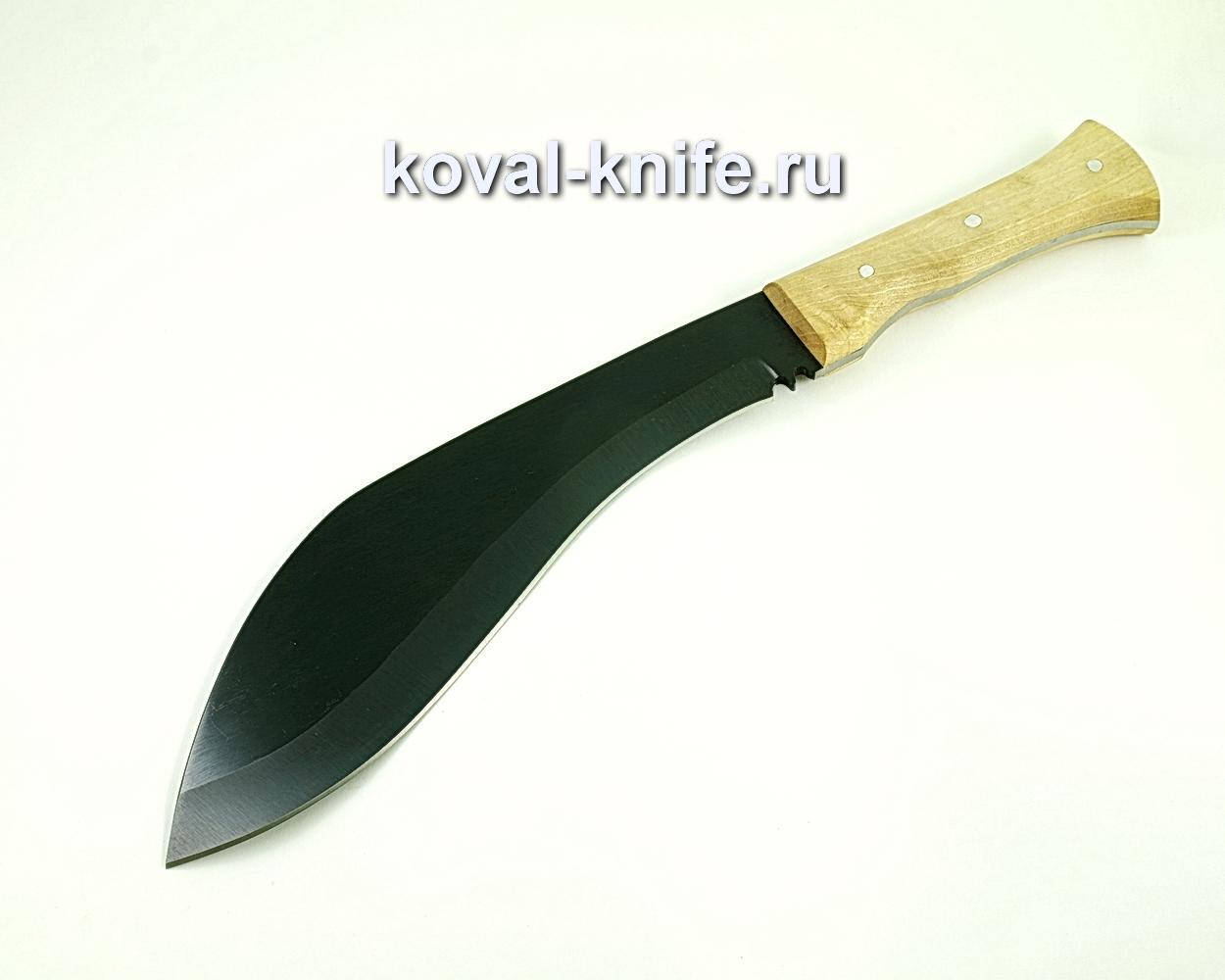 Нож Кукри (сталь 65г), рукоять орех A322