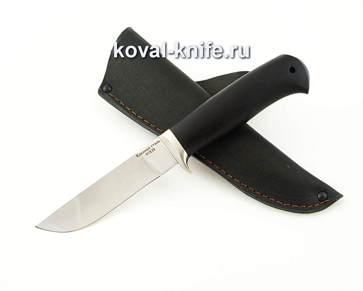Нож Белка из кованой стали 95Х18 с рукоятью из черного граба A582
