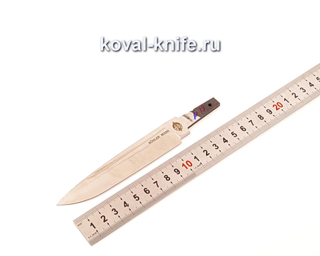 Клинок для ножа из порошковой стали Bohler M390 N19