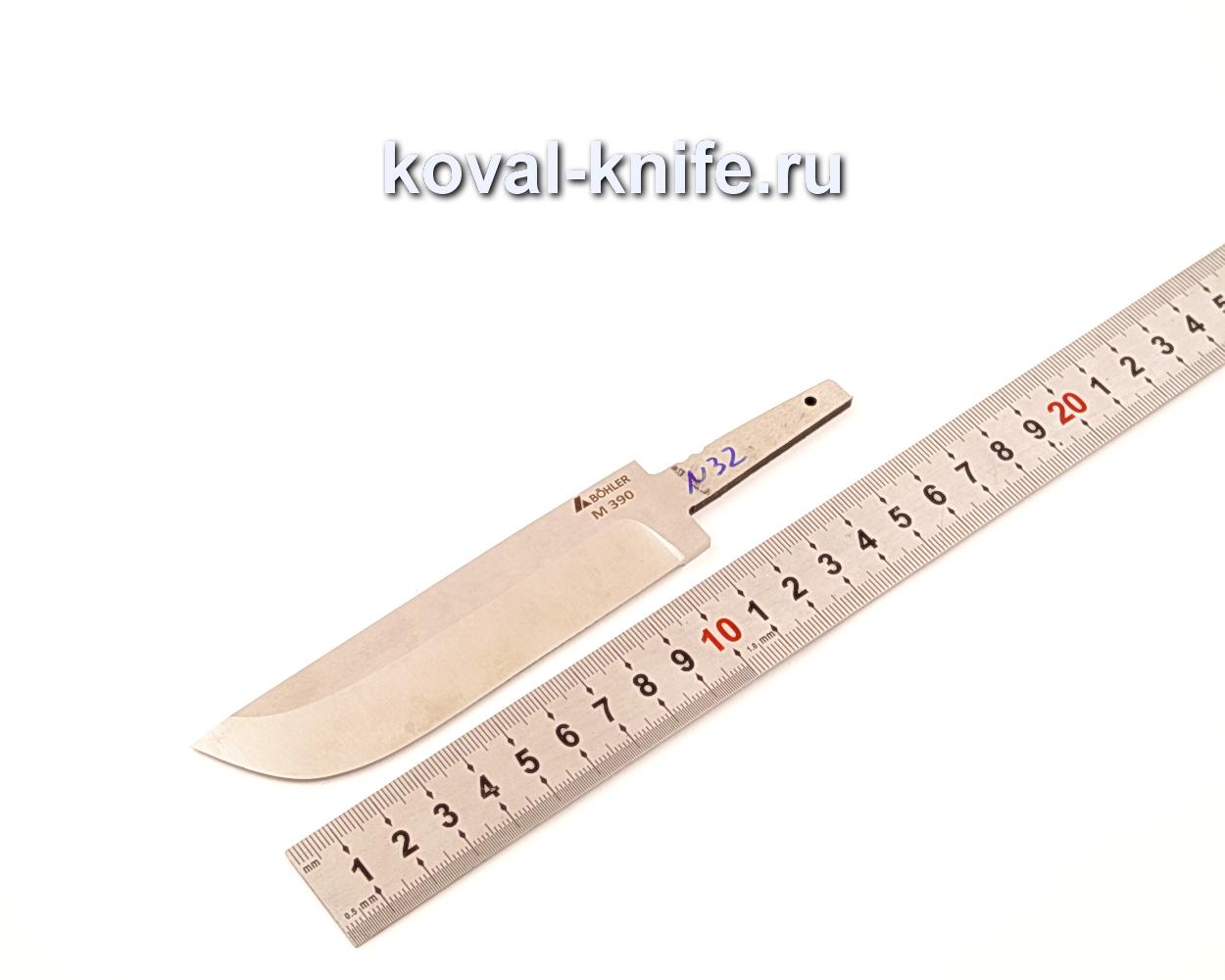 Клинок для ножа из порошковой стали Bohler M390 N32