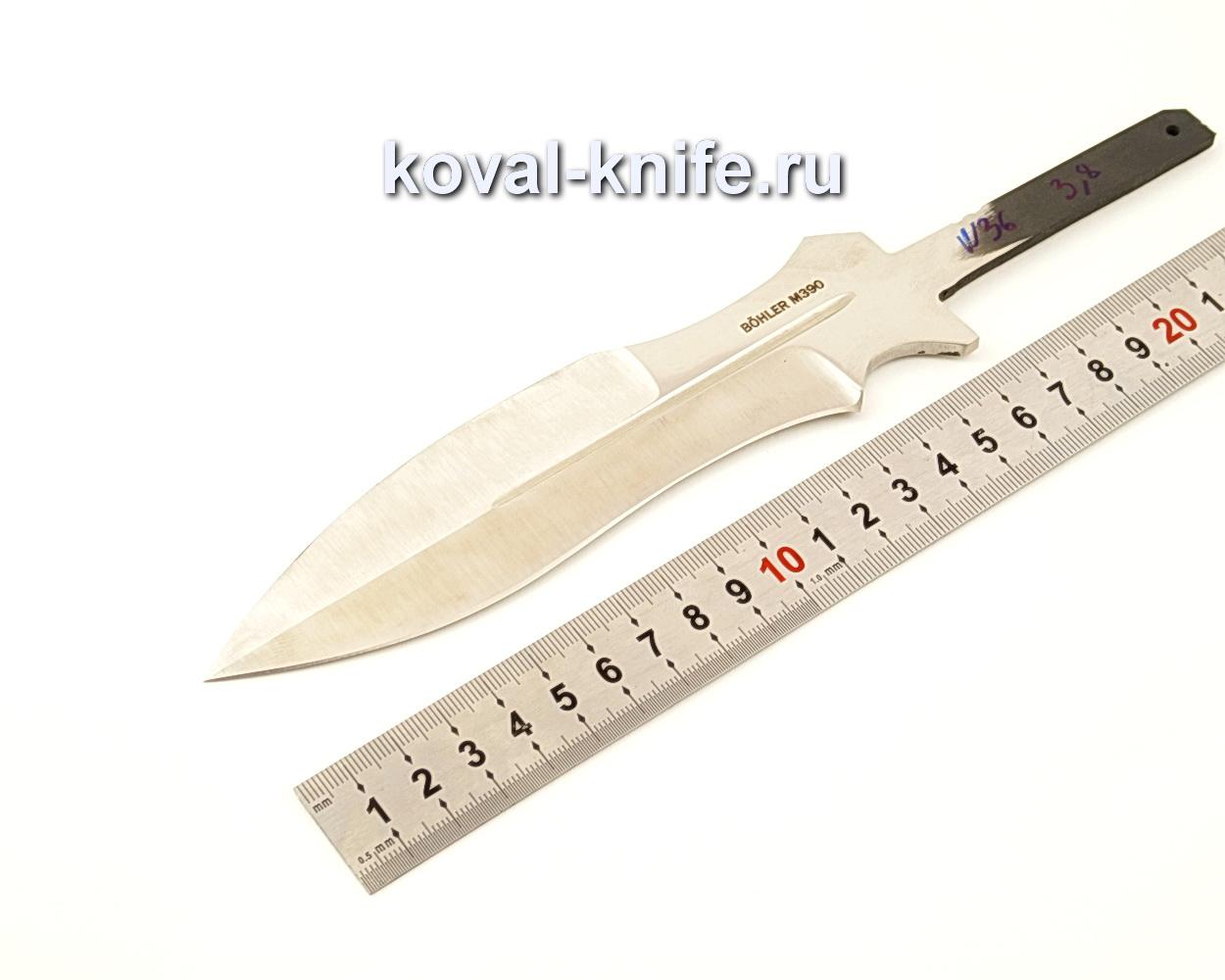 Клинок для ножа Каратель из порошковой стали Bohler M390  N36