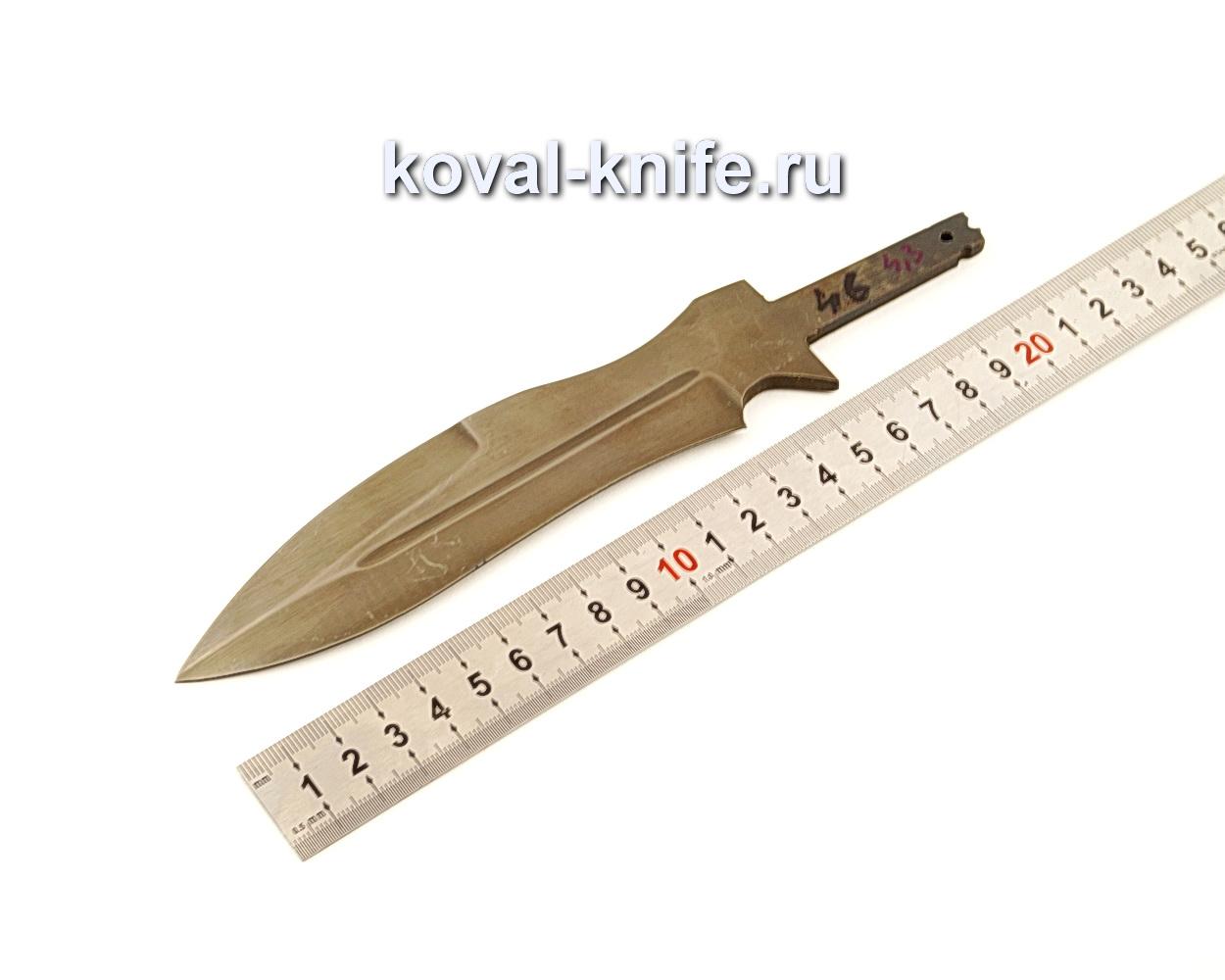Клинок для ножа Каратель из углеродистого булата N46