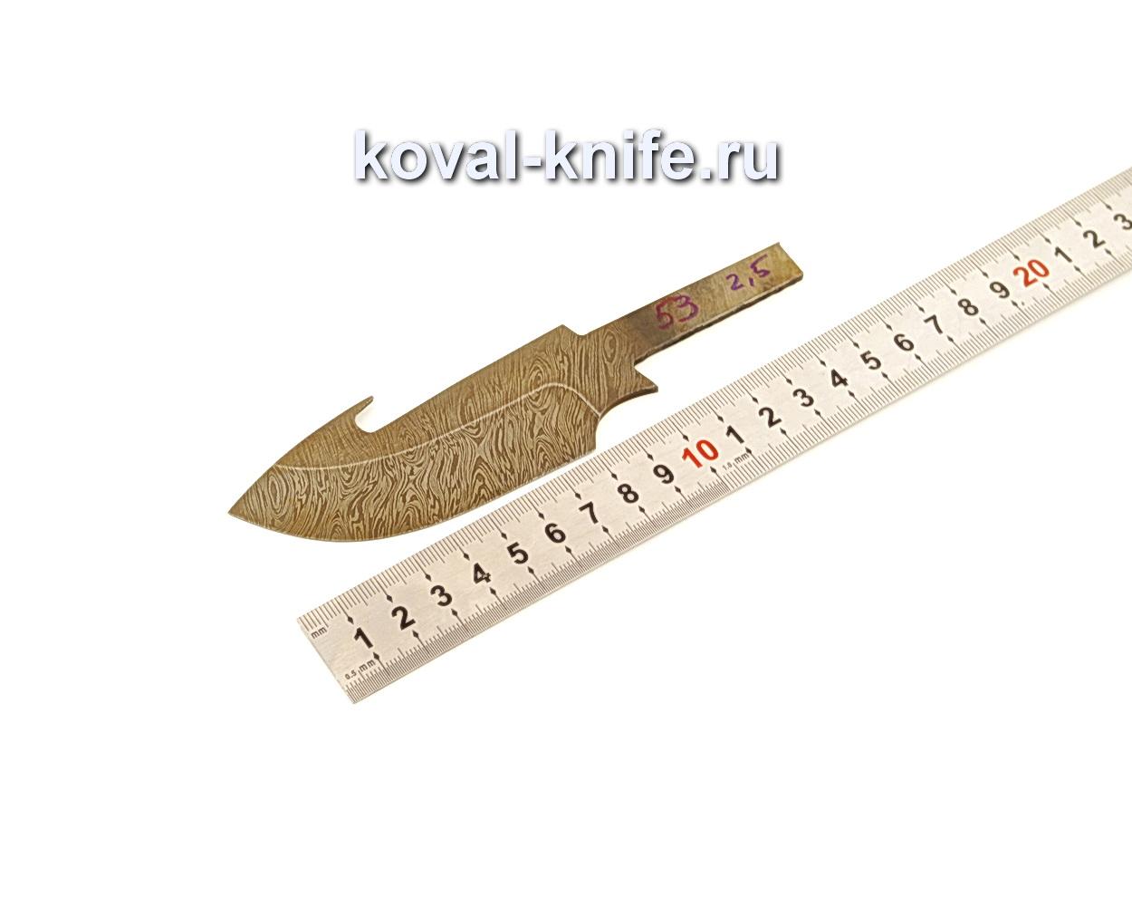 Клинок для ножа из дамасской стали N53