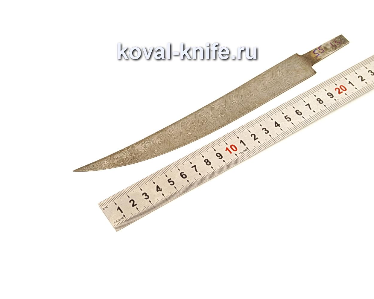 Клинок для филейного ножа из дамасской стали N55