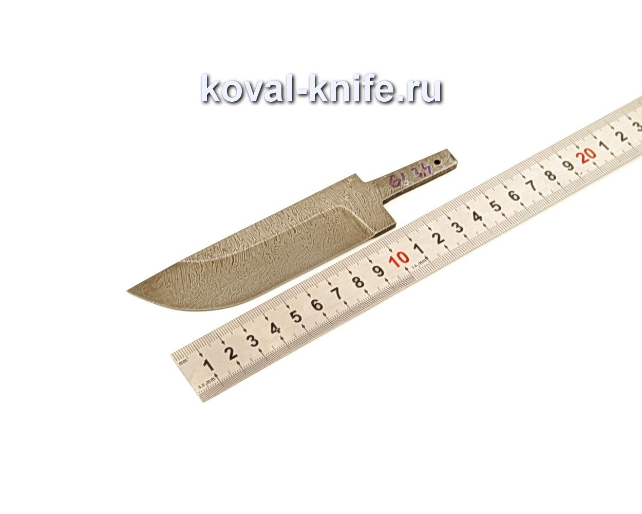 Клинок для ножа из дамасской стали N61