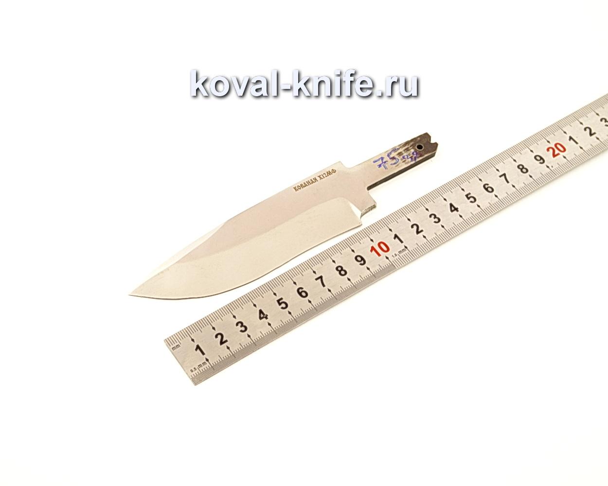 Клинок для ножа из кованой стали Х12МФ N75