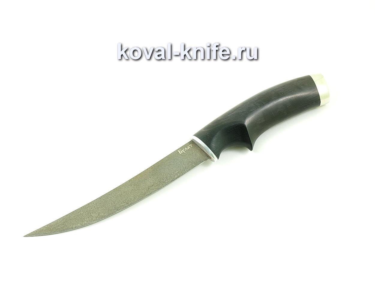 Нож из булатной стали Филейный  (Легированный булат, рукоять граб) A449