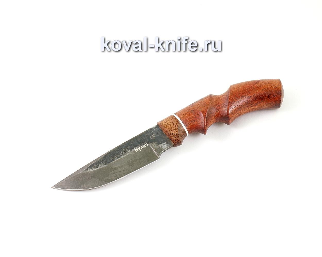 Нож из булатной стали Норвег (Легированный булат, рукоять бубинга и текстолит) A470