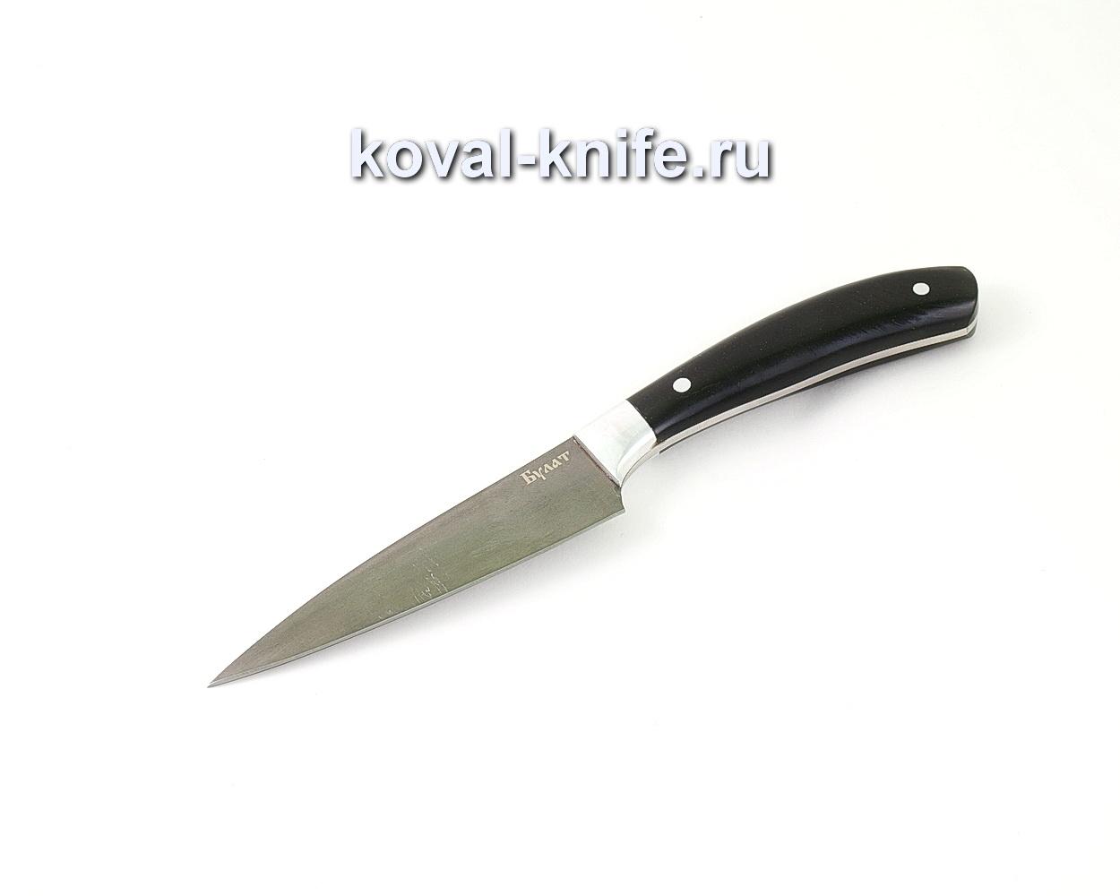 Нож из булатной стали Поварской малый (Легированный булат, рукоять эбонит) A471