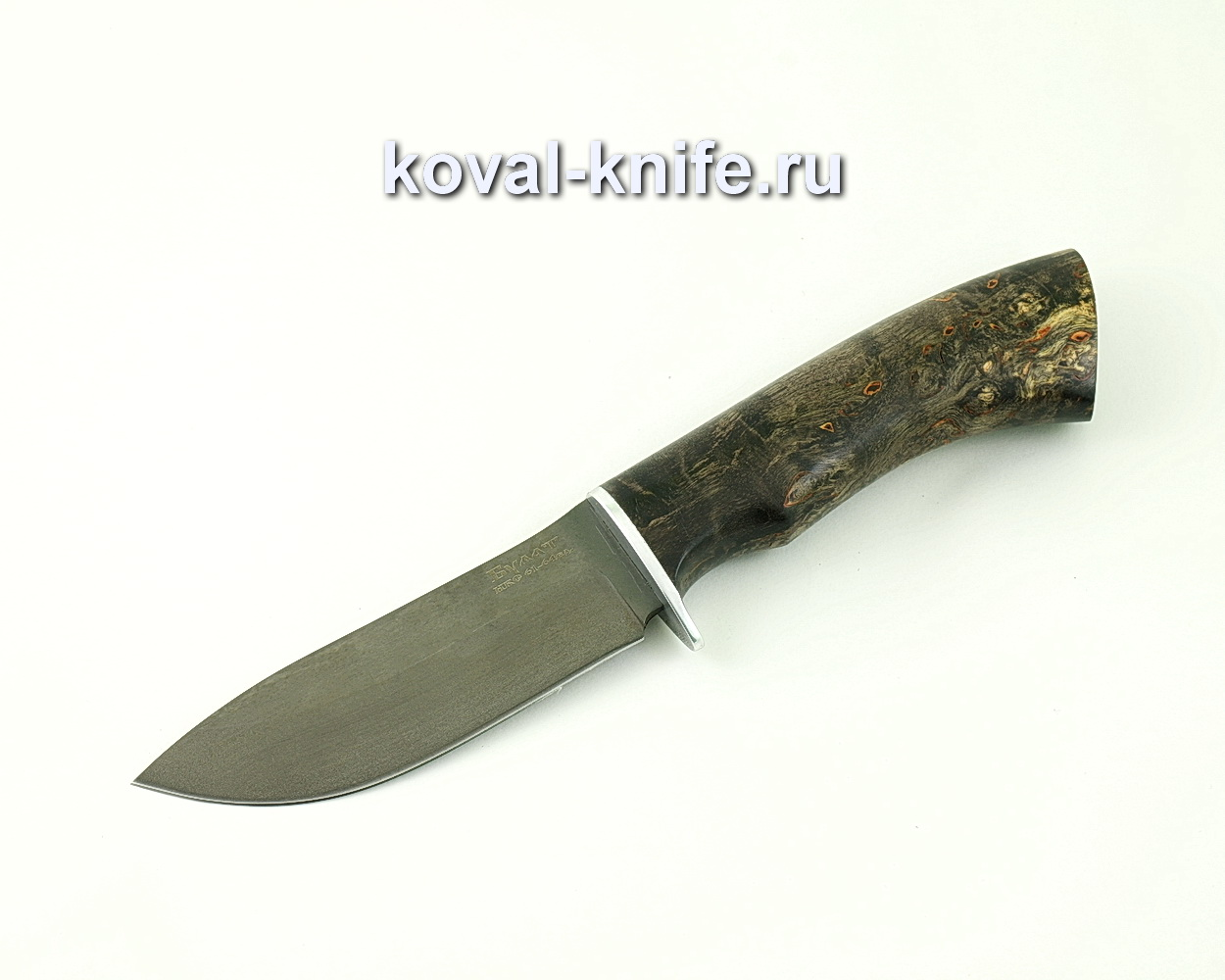 Нож из булатной стали Кабан (Легированный булат, рукоять стабилизированная карельская береза) A448