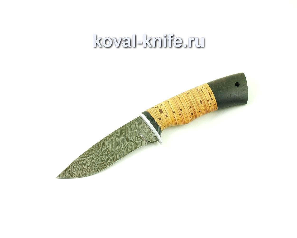 Нож из дамасской стали Сапсан (рукоять береста и граб) A493