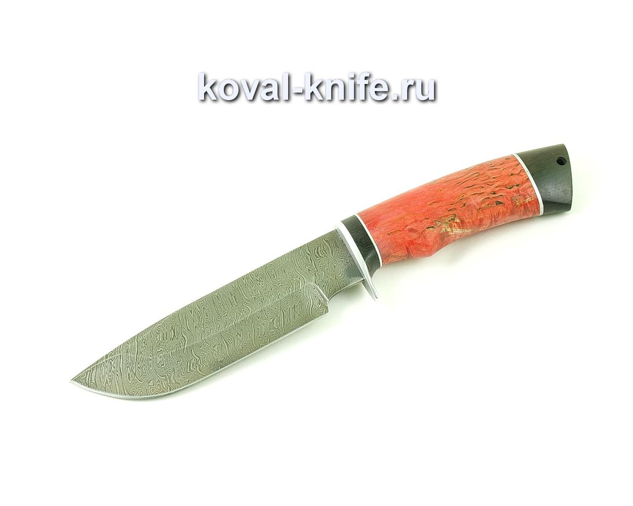 Нож из дамасской стали Барс (рукоять стабилизированная карельская береза и граб) A494