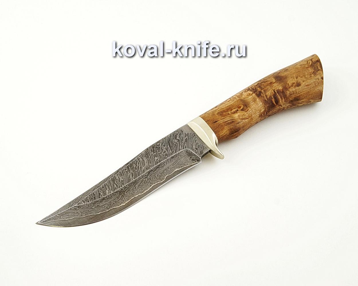 Нож Клыч из ламинированной стали (стабилизированная карельская береза, гарда мельхиор) A520