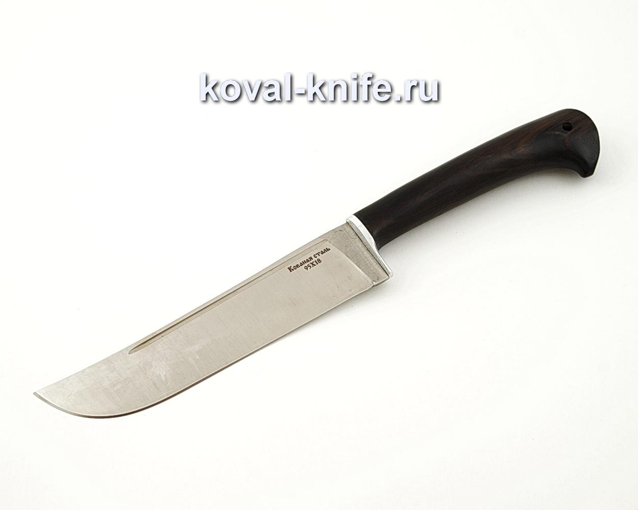 Нож Узбек из кованой стали 95х18 с рукоятью из черного граба A555