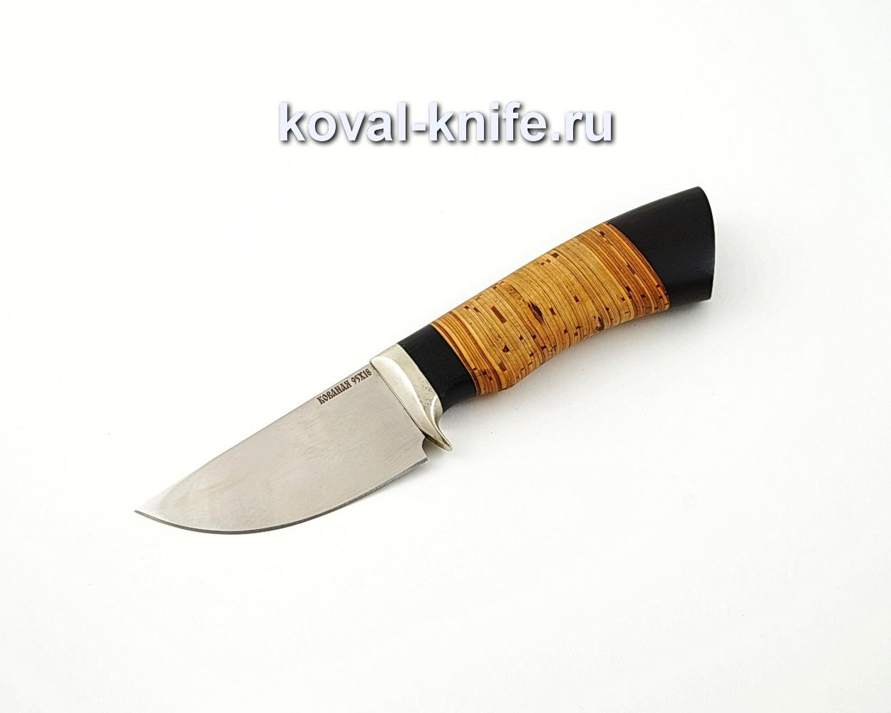 Нож Скин из кованой стали 95х18 с рукоятью из бересты и черного граба A565