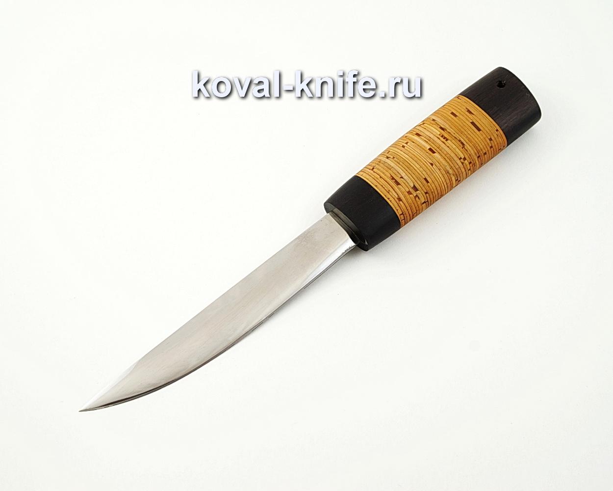 Якутский нож средний из кованой стали 110Х18 с рукоятью из бересты и черного граба A566
