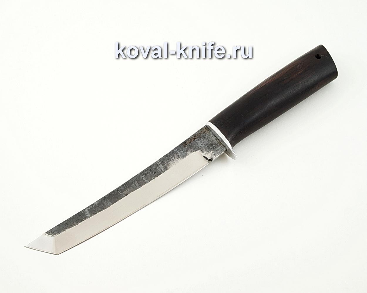 Нож Танто из кованой стали 110Х18 с рукоятью из черного граба A567