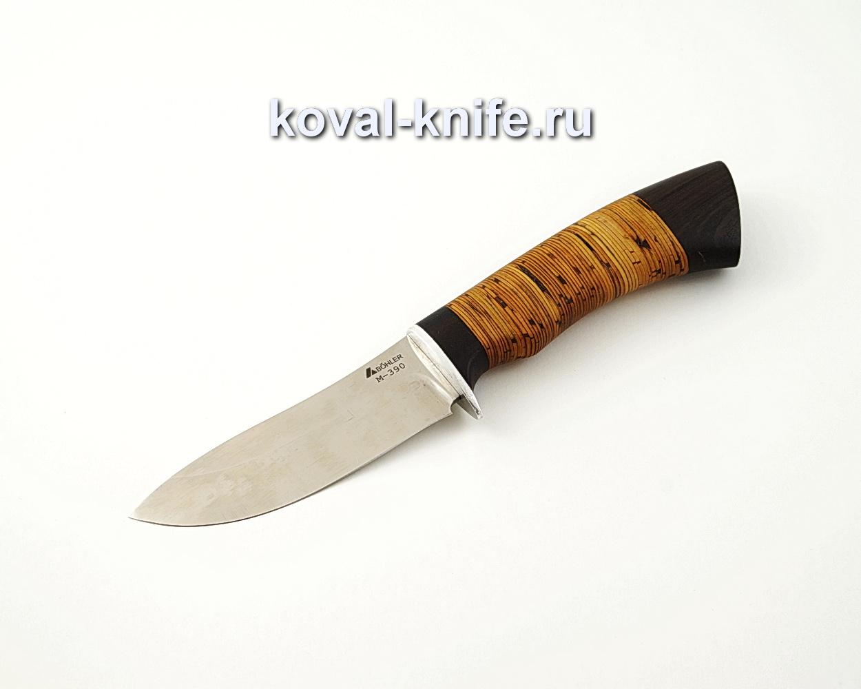 Нож Кабан из порошковой стали М390 с рукоятью из бересты и граба A525