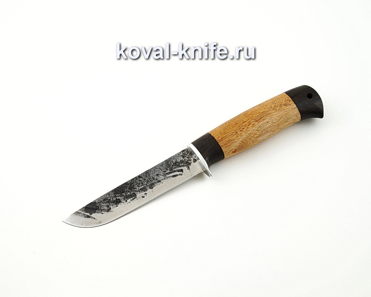 Нож Белка из кованой стали 9ХС с рукоятью из амазакуе и черного граба A588