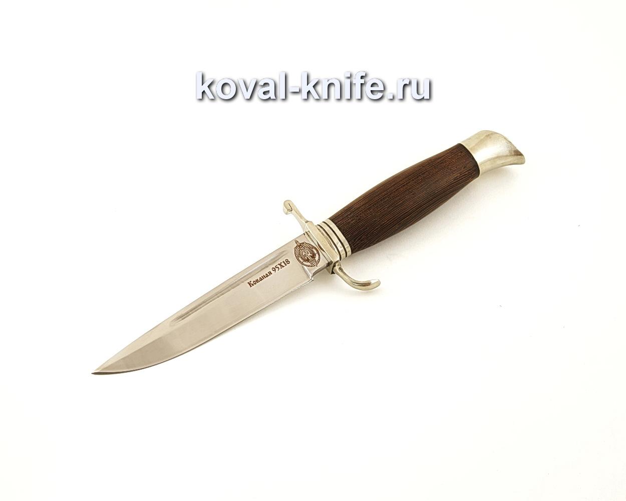 Нож финка НКВД из кованой стали 95Х18 с рукоятью из венге  A621